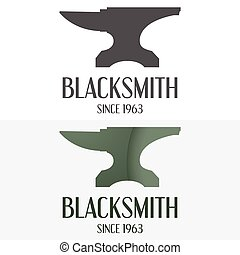 Set of logo, badge, label, emblem and logotype elements for blacksmith
