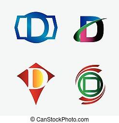 Set of Logo D Letter company vector