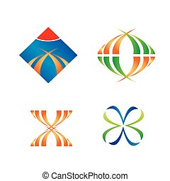 Set of logo design elements