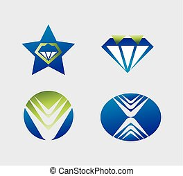 Set of logo design elements vector