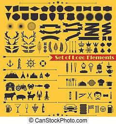 set of logo elements