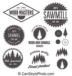 Set of logo, labels, badges and logotype elements for ...