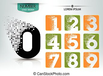 Set of logo number vector design