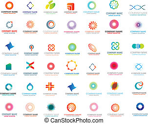 set of logo or symbols for comanies,