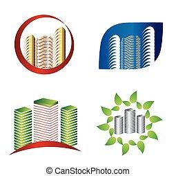 Set of logo real estate design
