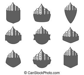 Set of logos city.