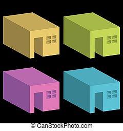 Set of logos for real estate