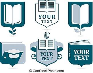 Set of logos of education.