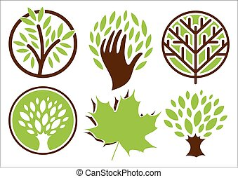 Set of logos of the trees.