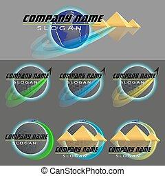 set of logos of travel company