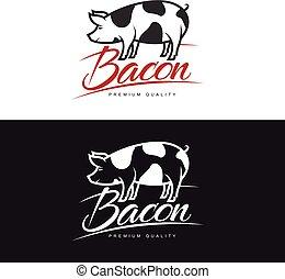 set of logos with a pig