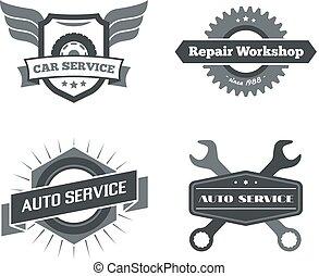 Set of logotypes for mechanic, garage, car repair, service