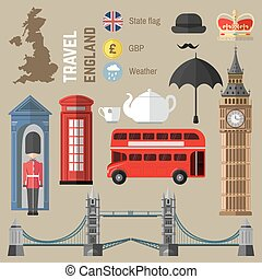 Set of London/England symbols. - Set of London city symbols....