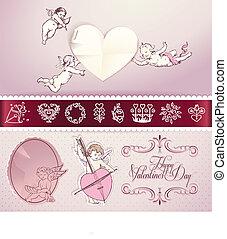 Set of love vector elements
