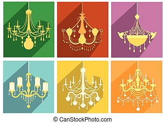 Set of luxury chandelier