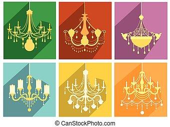 Set of luxury chandelier