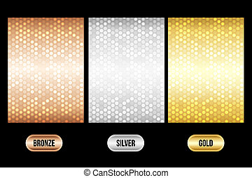 Set of luxury metallic backgrounds