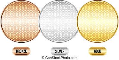 Set of luxury metallic backgrounds