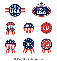 set of made in the USA labels