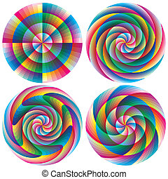 Set of magic vector circles
