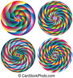 Set of magic vector circles