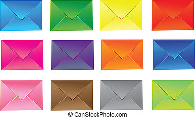 Set of mail icon