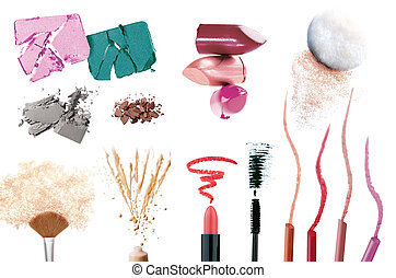 Set of make up products - Collection of make up products ...