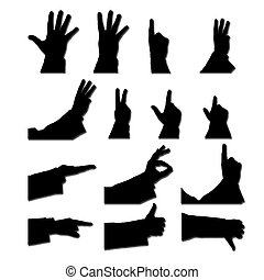 set of male hands