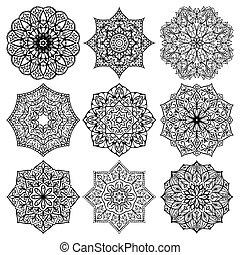 Architectural decorative details. - Set of mandalas....