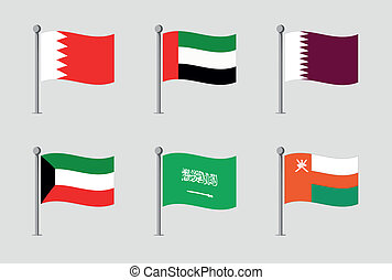 Map flag of uae  Map of uae and their flag illustration