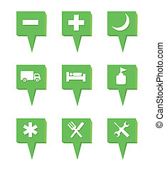 set of map icon, vector