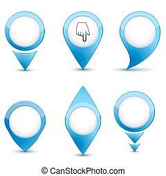 Set of map mark icons