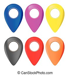 Set of Map Marker Icons