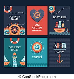 Set of marine cards