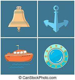 Set of Marine Icons