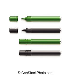 Set of Markers, Highlighters, Felt Tip Pens