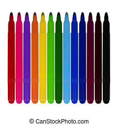 marker - Set of markers of various colors isolated on white...