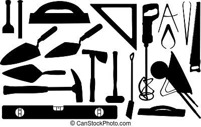 set of masonry tools