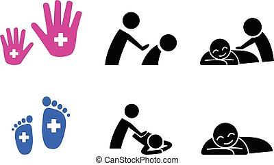 Set of Massage icon, vector