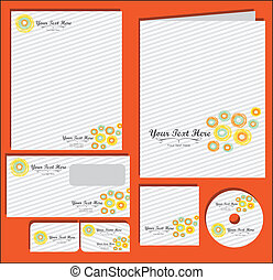 Set of material corporate image. contains, on, letterhead, ...