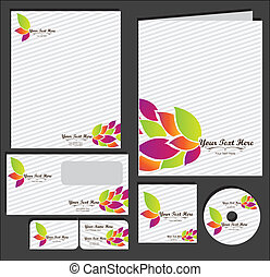 Set of material corporate image