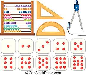 Set of mathematics equipments