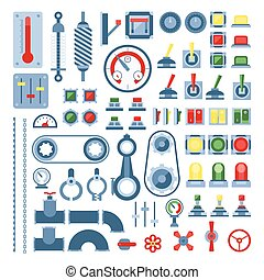 Set of measuring equipment - modern vector realistic isolated clip art