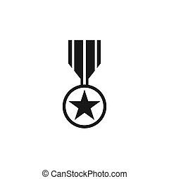 Set of medal icon vector for veterans day illustration