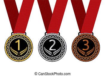 Set of medal vector illustration
