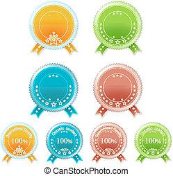 Set of medals. Vector eps10 illustration