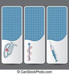 Set of medical banners or website headers