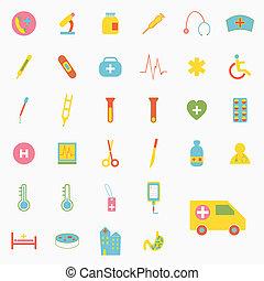 Set of medical icons design