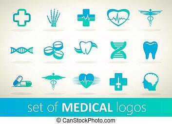 Set of medical logo vector