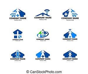 Set of Medical Online Logo Design Template Element